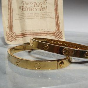 2 Vintage 18k 1970 A.Cipullo Cartier LOVE Bracelet